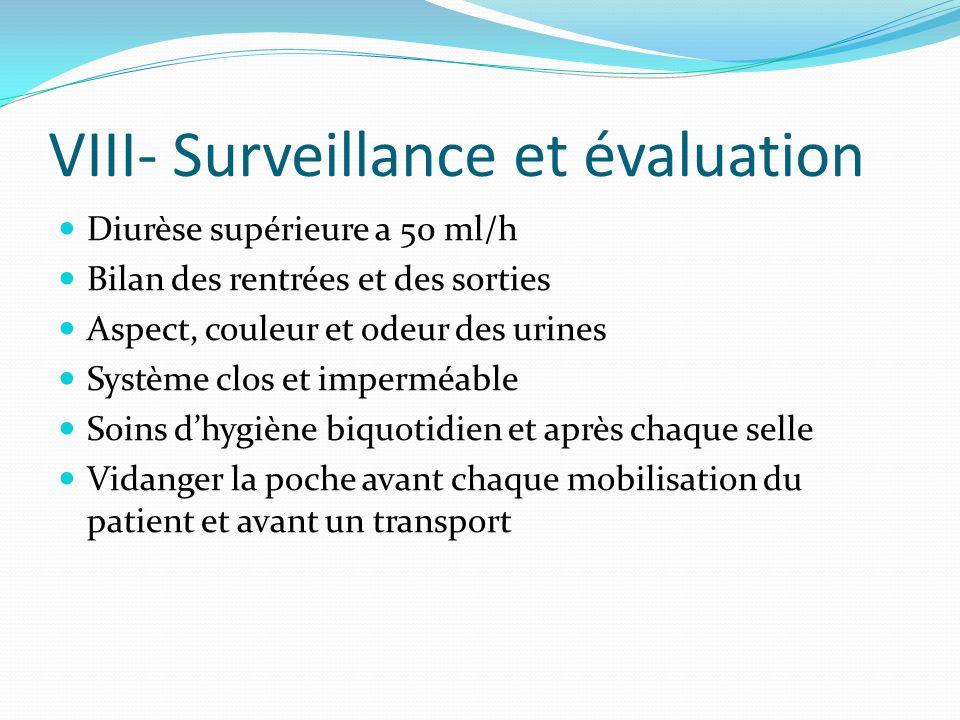 VIII- Surveillance et évaluation