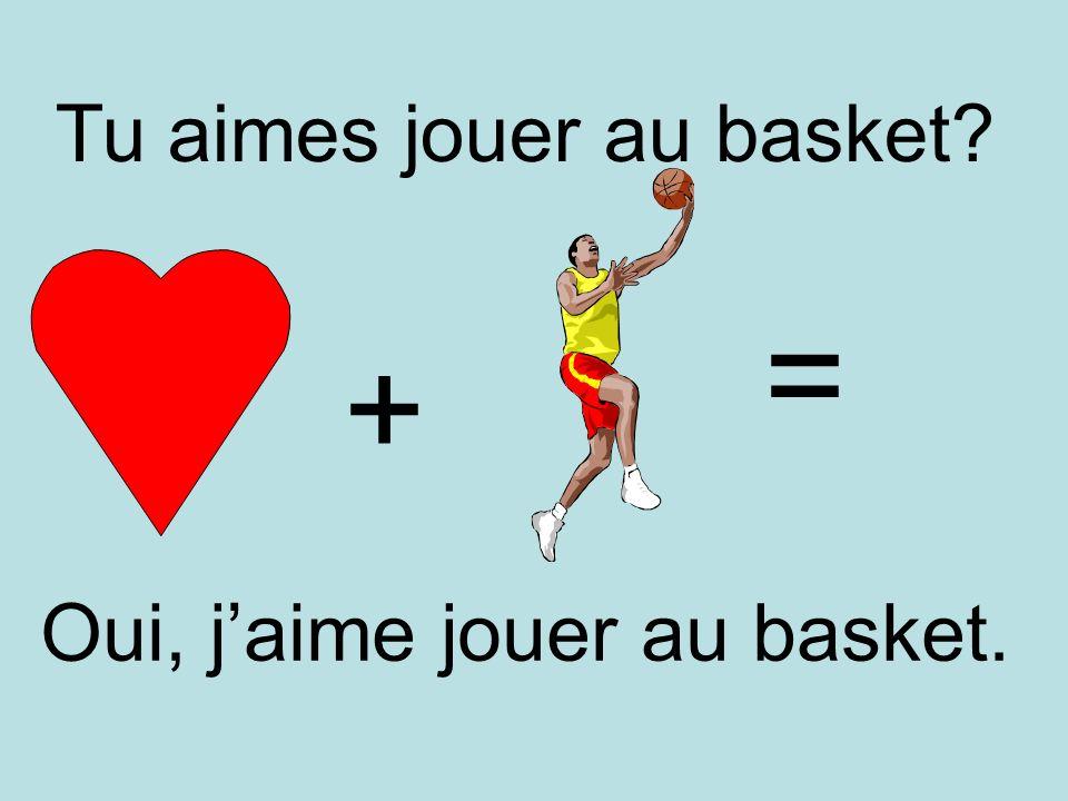 Tu aimes jouer au basket