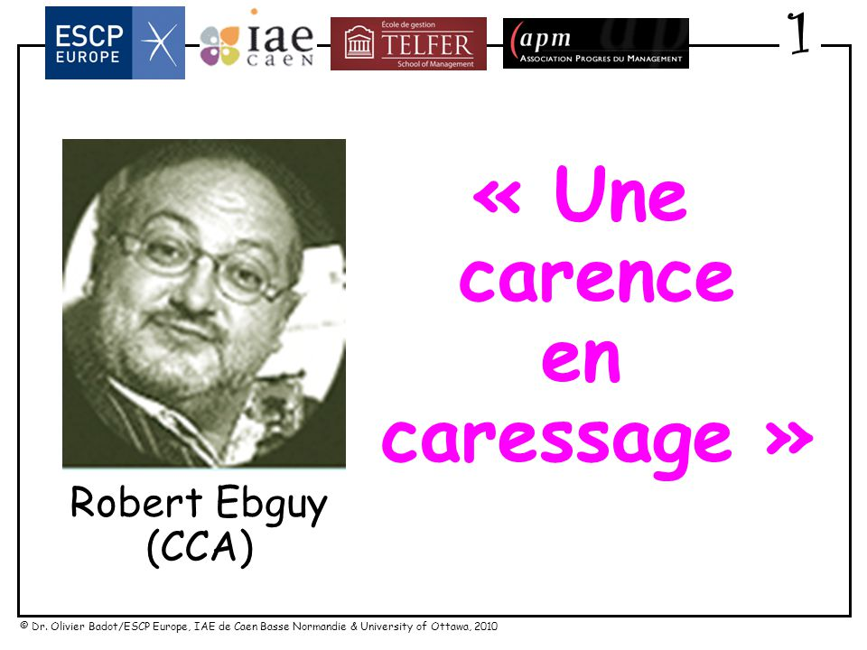 « Une carence en caressage »