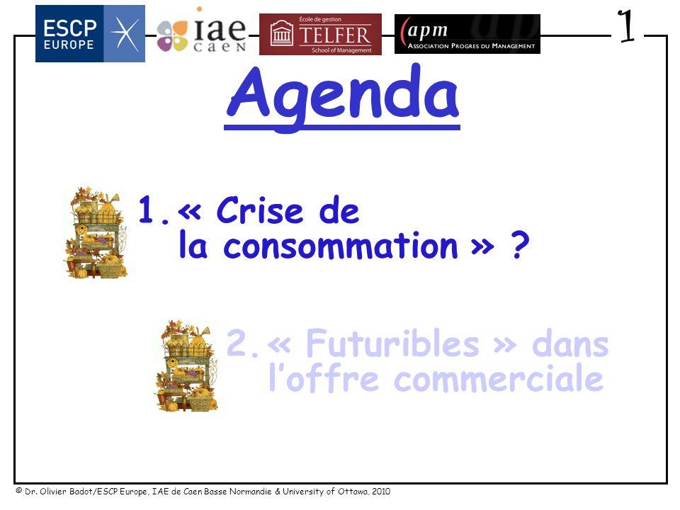 Agenda 1 1. « Crise de la consommation » « Futuribles » dans