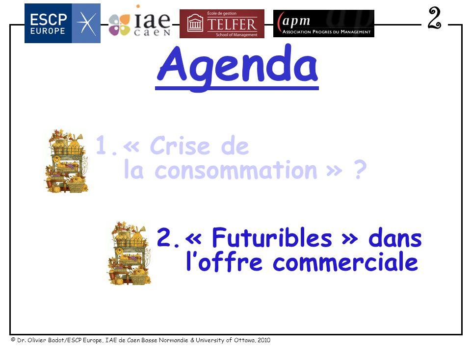 Agenda 2 1. « Crise de la consommation » « Futuribles » dans