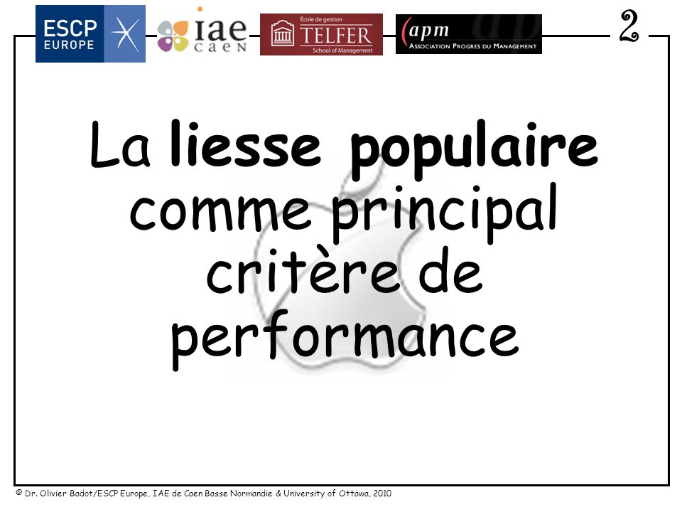 critère de performance