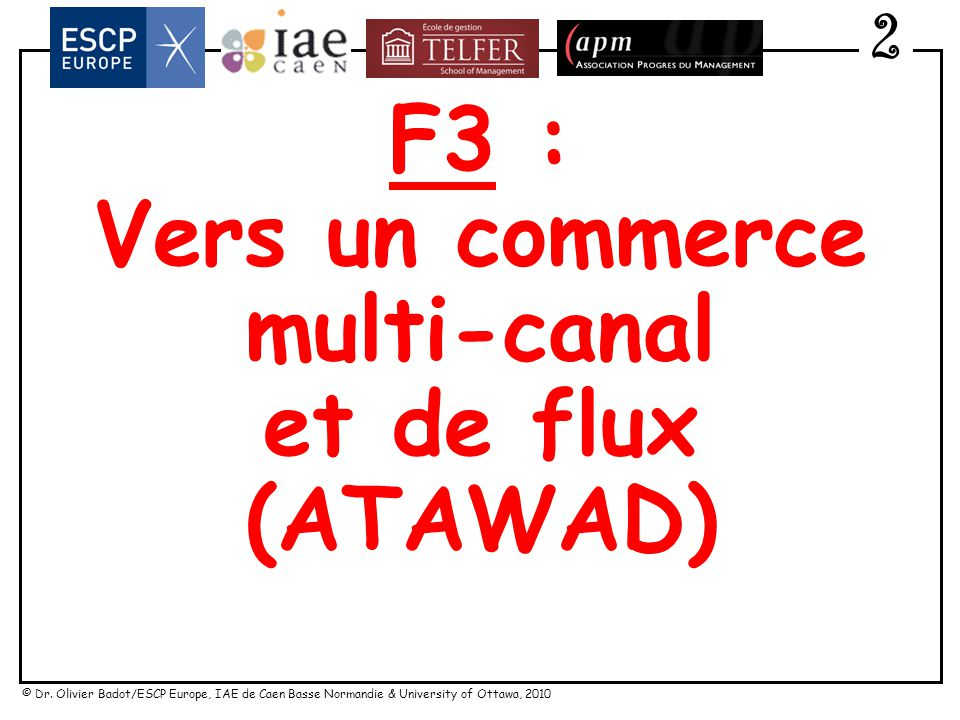 Vers un commerce multi-canal