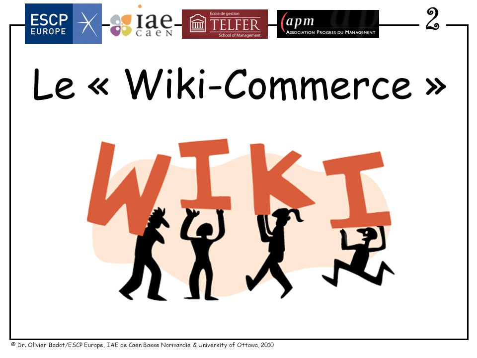 2 Le « Wiki-Commerce »