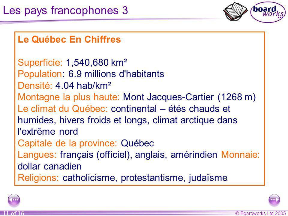 Le Québec – une province francophone