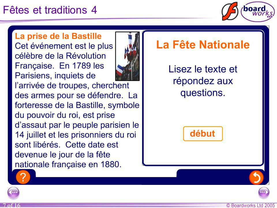 Fêtes et traditions 4 Correct answers: