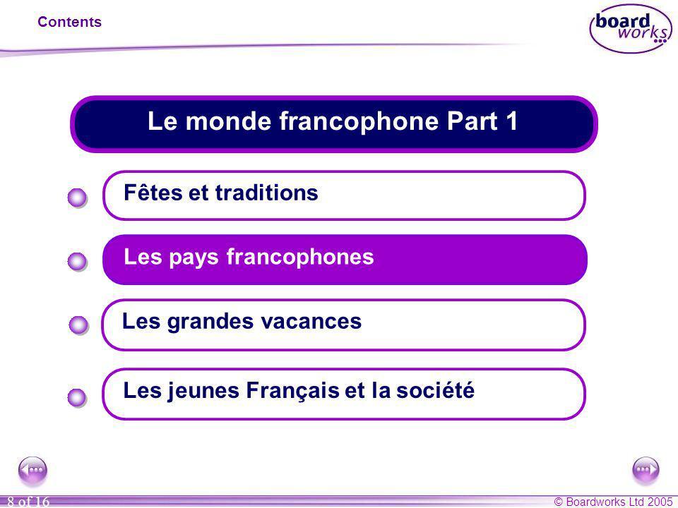 Le monde francophone Part 1