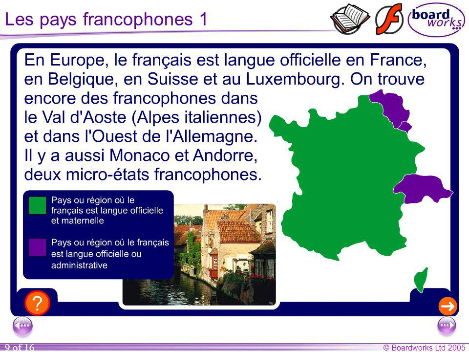 Les pays francophones 1 Click on the arrow to read about more Francophone countries.