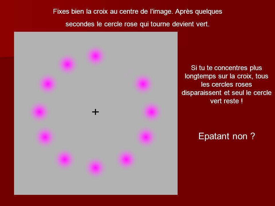 Epatant non Fixes bien la croix au centre de l'image. Après quelques
