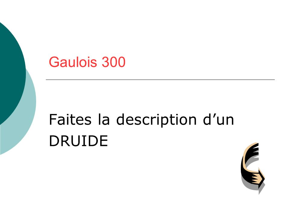 Faites la description d'un DRUIDE
