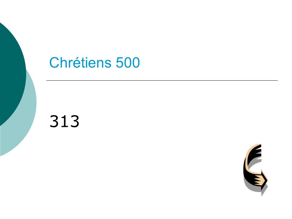 Chrétiens 500 313