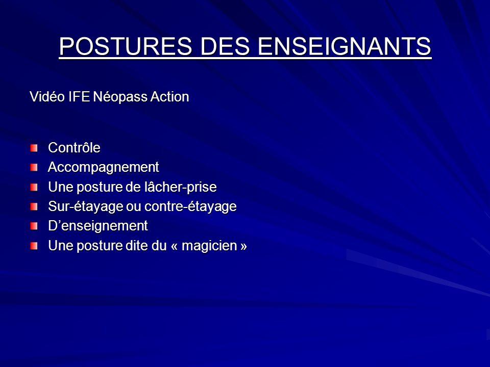 POSTURES DES ENSEIGNANTS