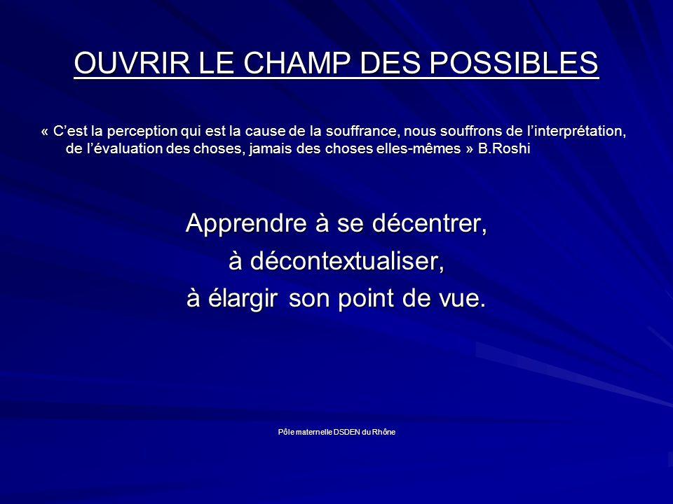 OUVRIR LE CHAMP DES POSSIBLES