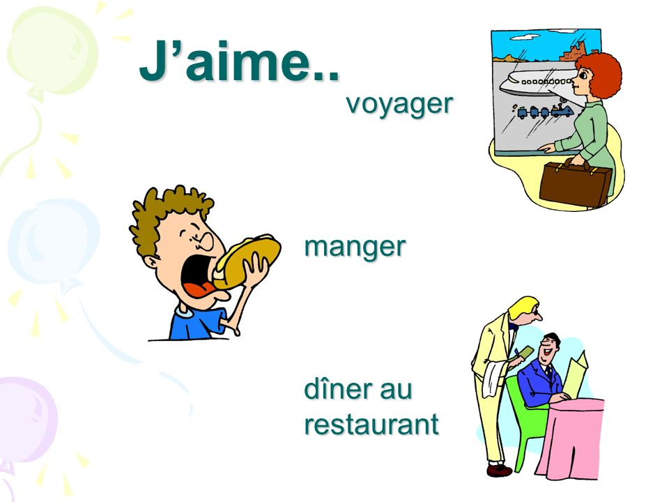 J'aime.. voyager manger dîner au restaurant