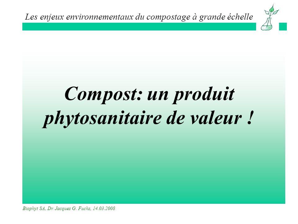 Compost: un produit phytosanitaire de valeur !
