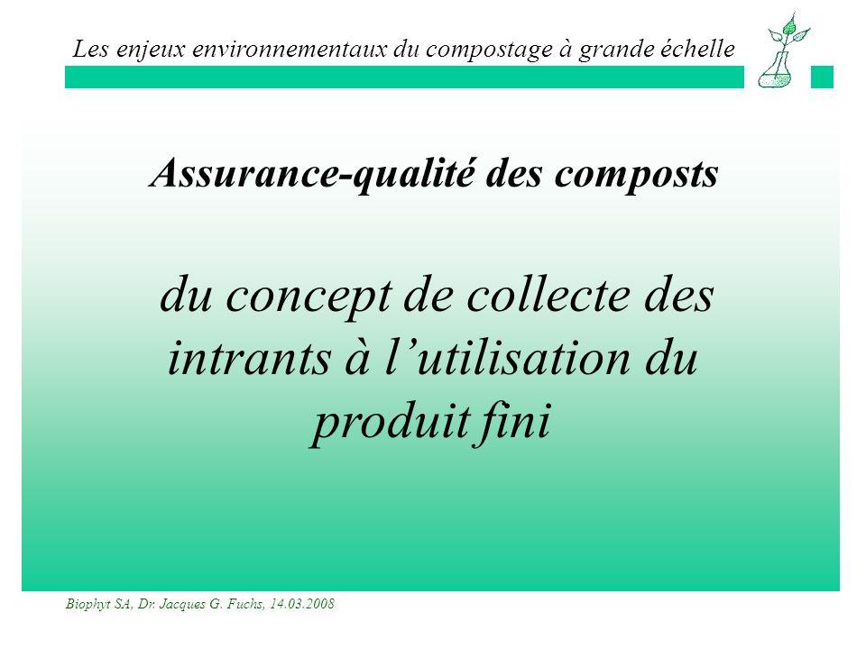 Assurance-qualité des composts