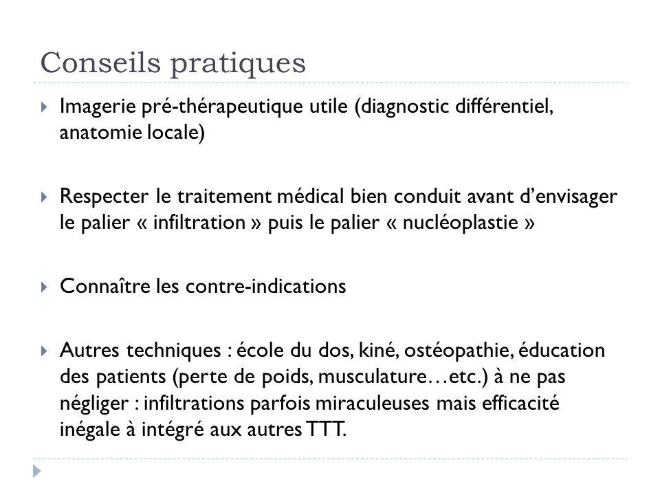 Conseils pratiques Imagerie pré-thérapeutique utile (diagnostic différentiel, anatomie locale)