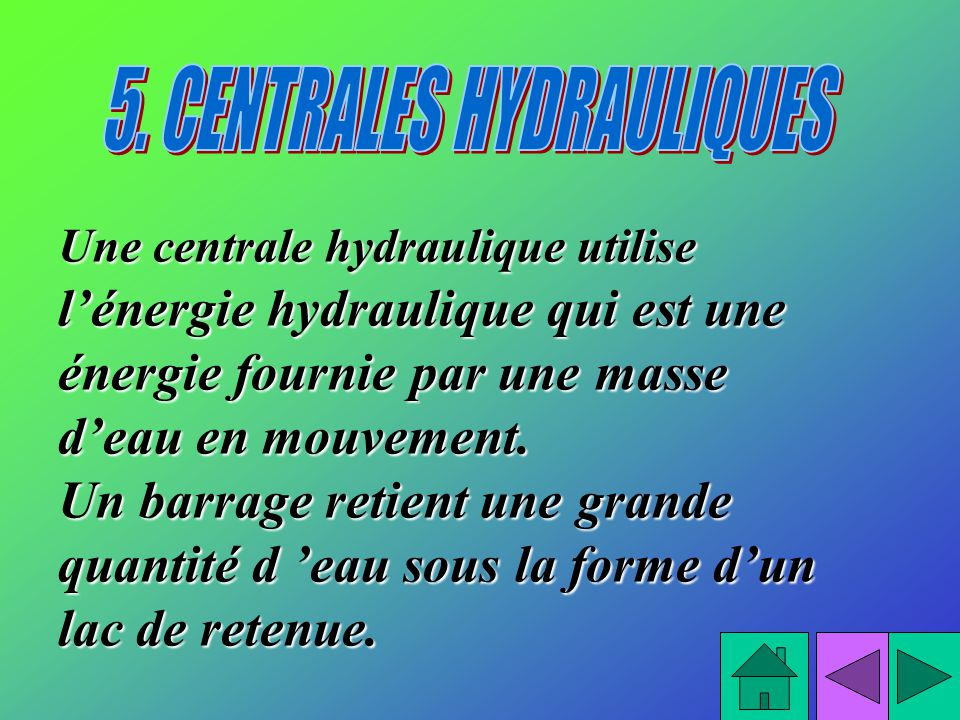 5. CENTRALES HYDRAULIQUES