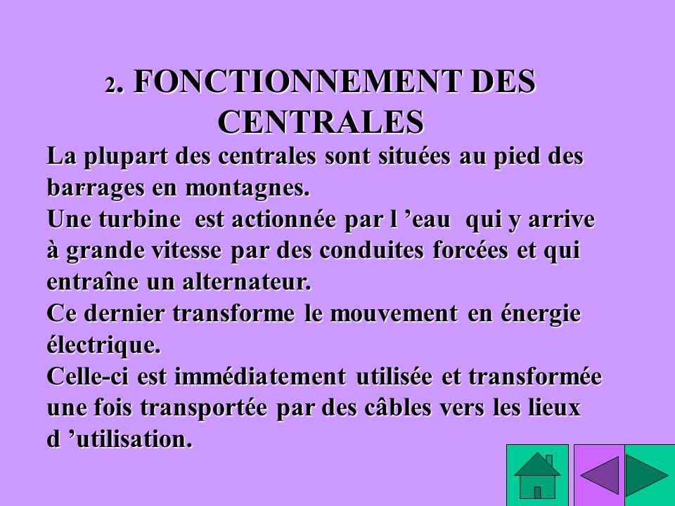 2. FONCTIONNEMENT DES CENTRALES