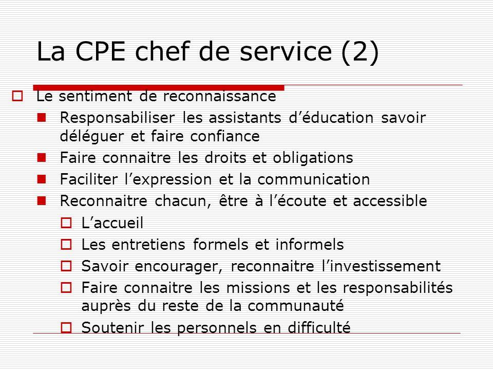 La CPE chef de service (2)