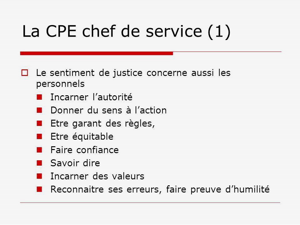 La CPE chef de service (1)