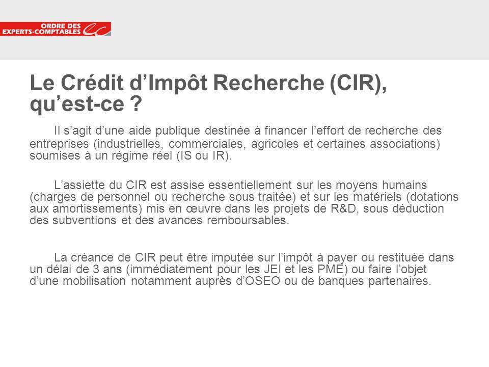 Le Crédit d'Impôt Recherche (CIR), qu'est-ce