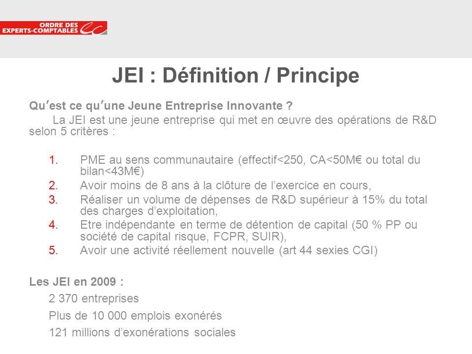 JEI : Définition / Principe
