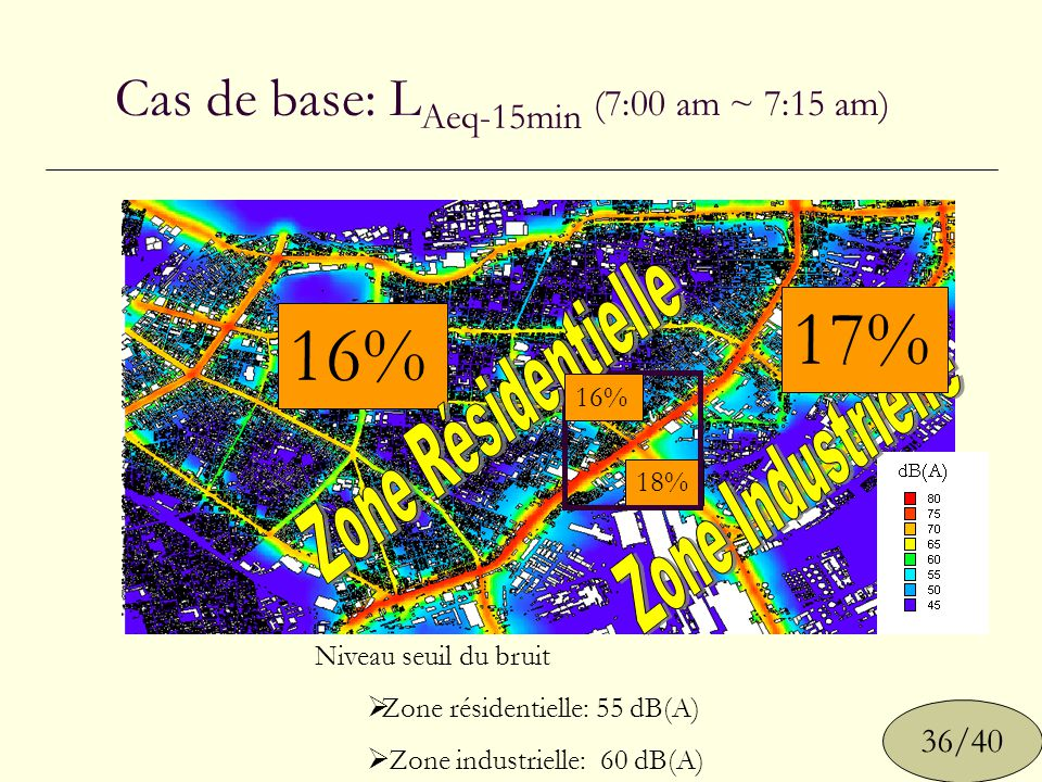 Cas de base: LAeq-15min (7:00 am ~ 7:15 am)