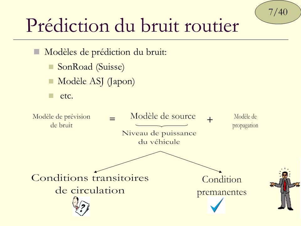 Prédiction du bruit routier