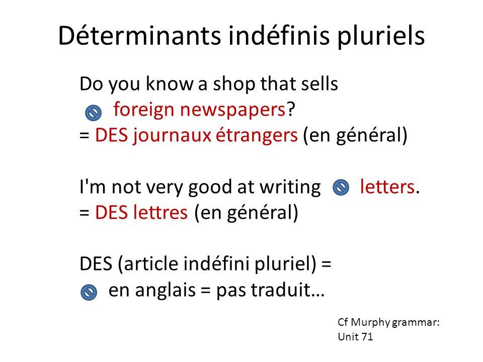 Déterminants indéfinis pluriels