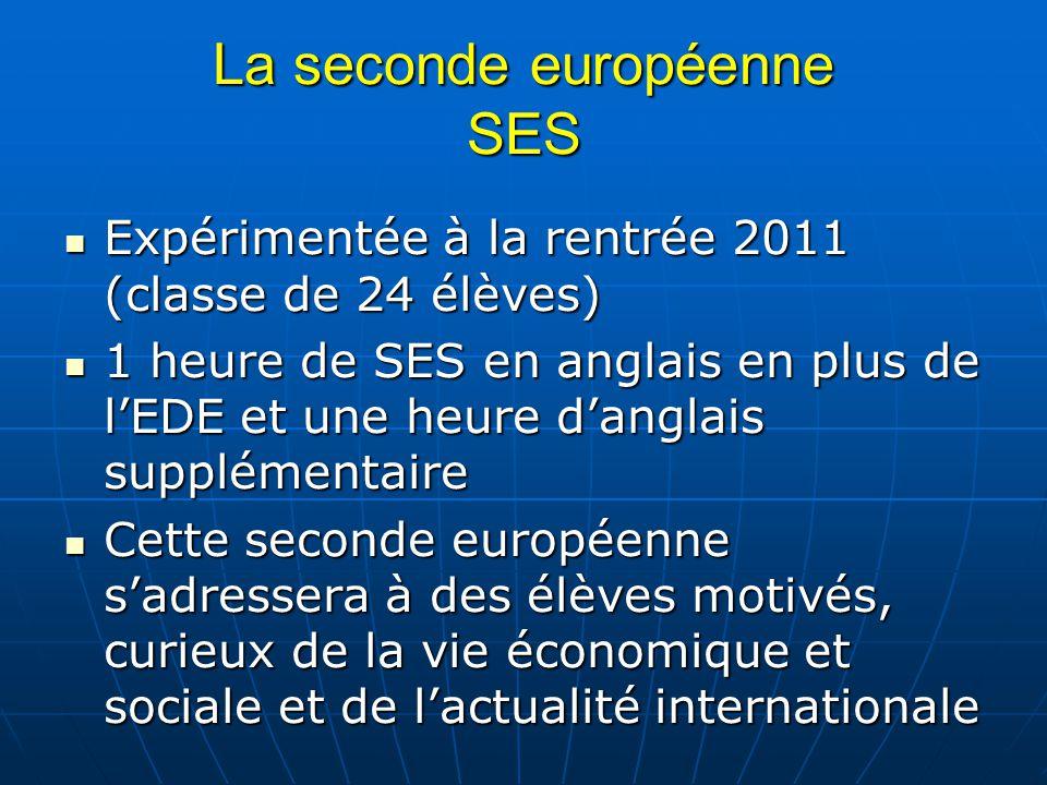 La seconde européenne SES