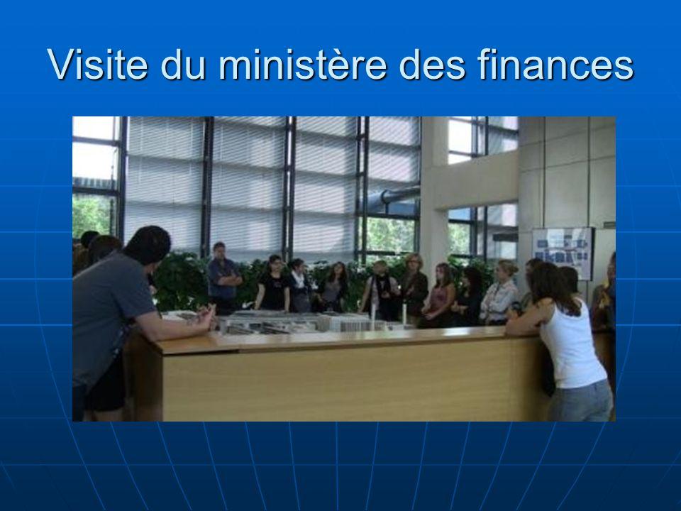 Visite du ministère des finances