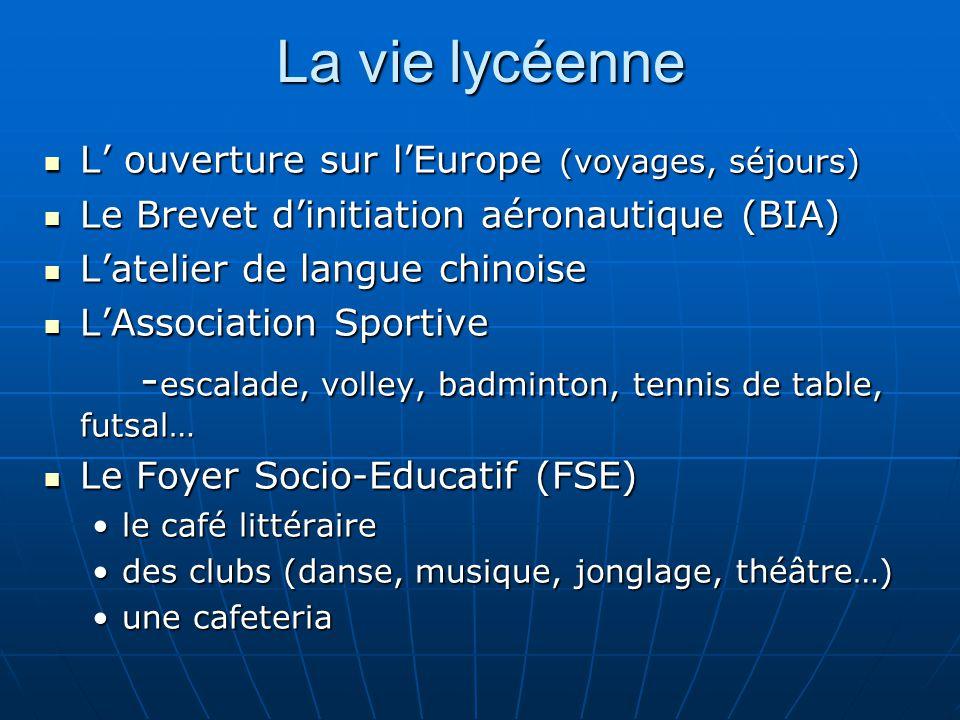 La vie lycéenne -escalade, volley, badminton, tennis de table, futsal…