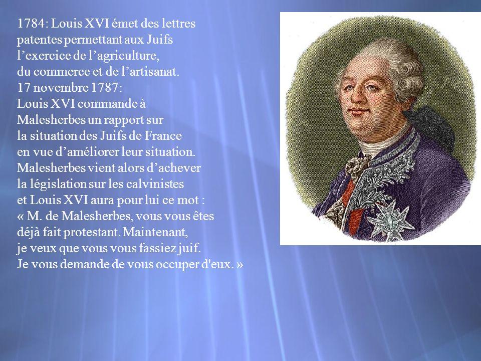 1784: Louis XVI émet des lettres