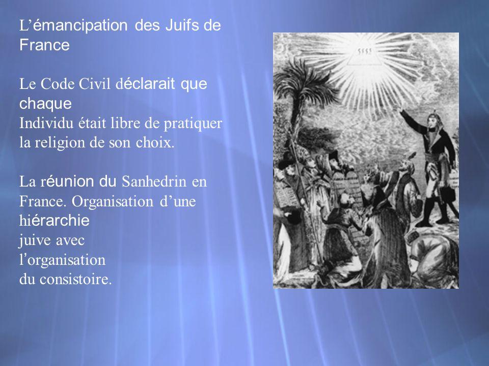 L'émancipation des Juifs de France