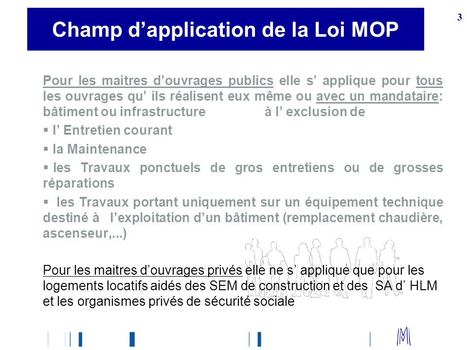 Champ d'application de la Loi MOP