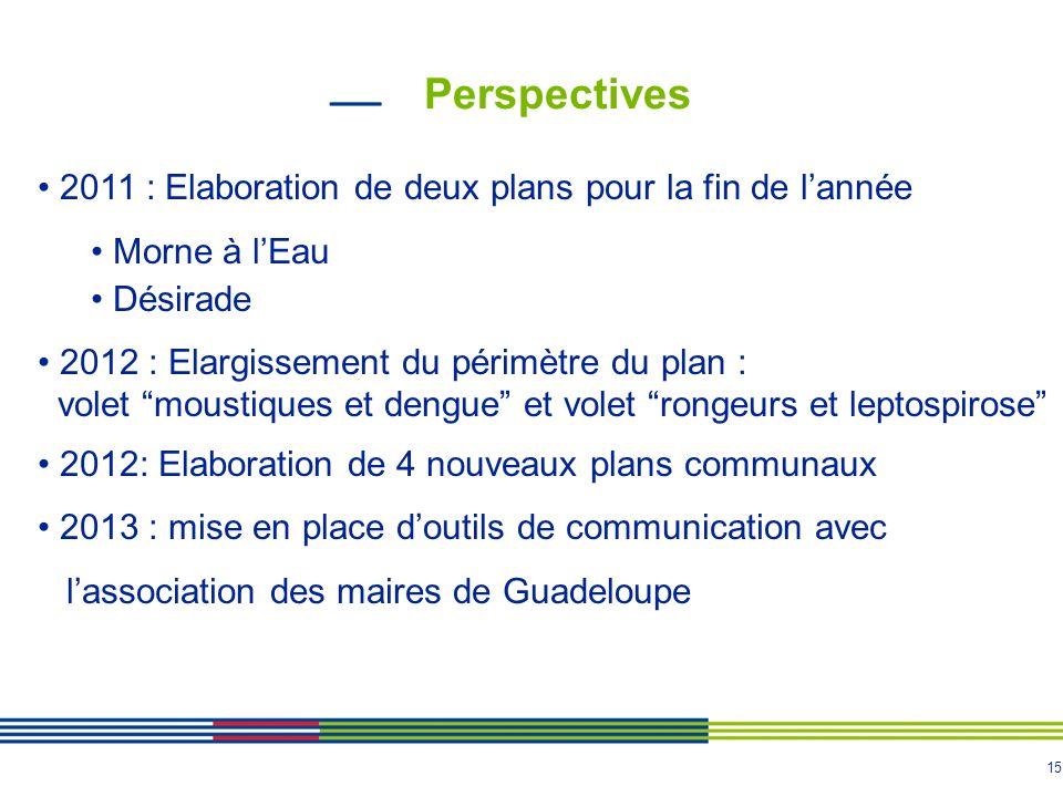 Perspectives 2011 : Elaboration de deux plans pour la fin de l'année