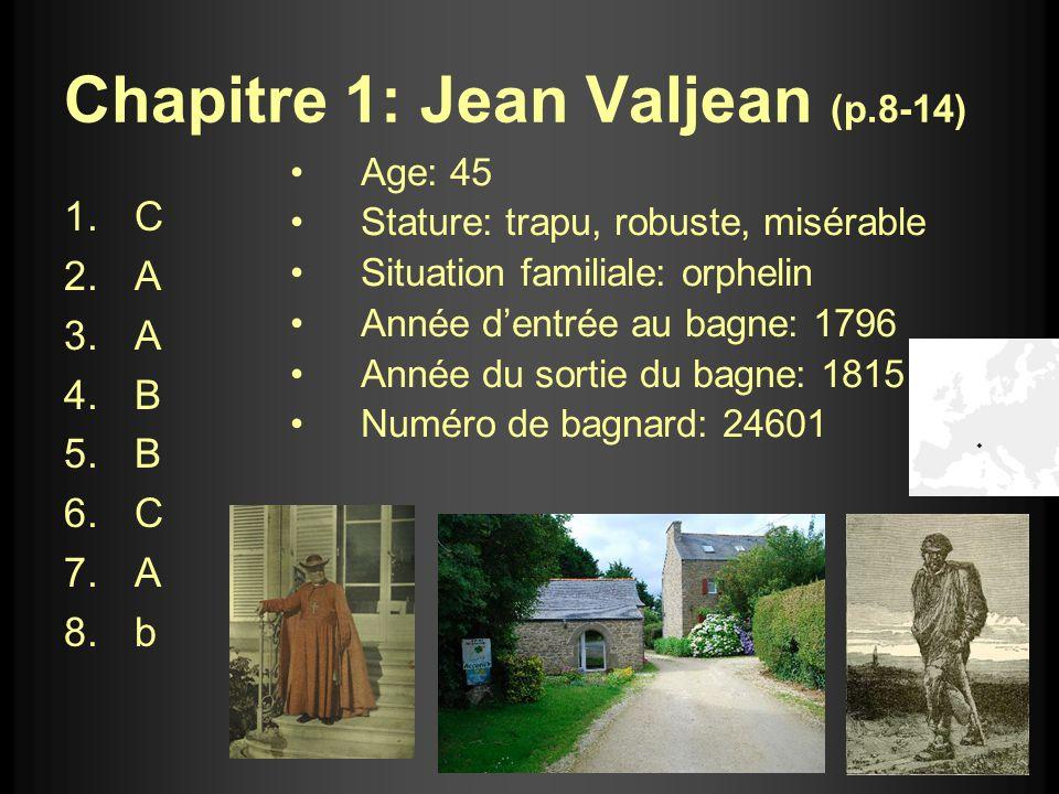 Chapitre 1: Jean Valjean (p.8-14)