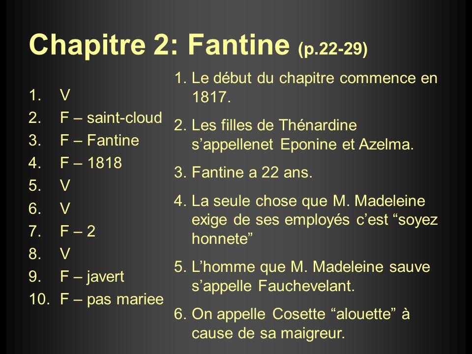 Chapitre 2: Fantine (p.22-29)