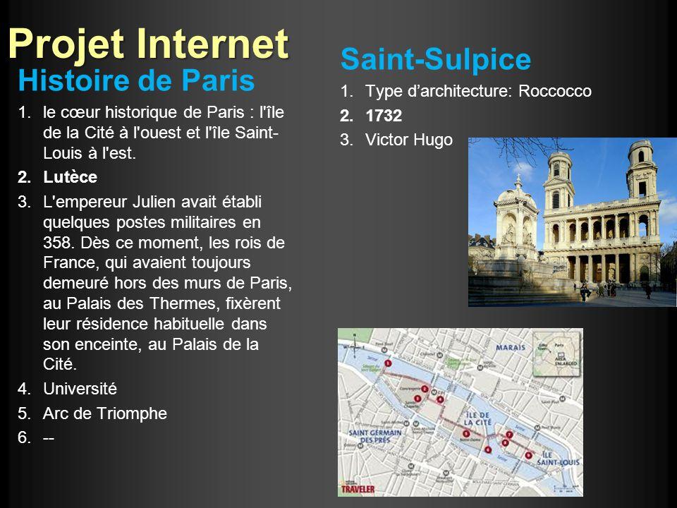 Projet Internet Saint-Sulpice Histoire de Paris