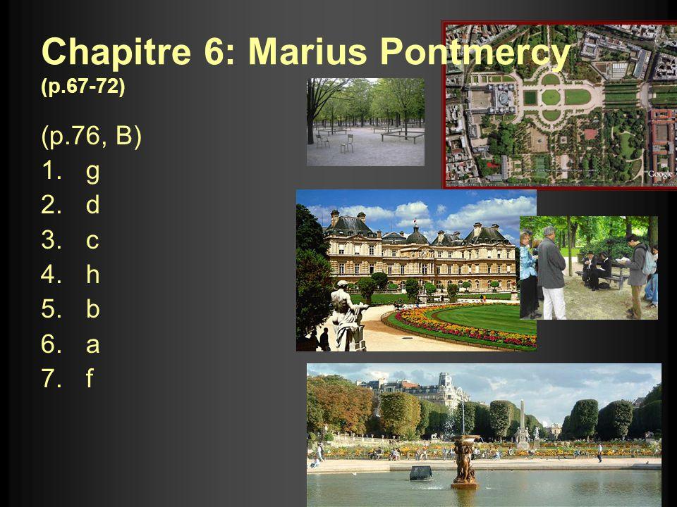 Chapitre 6: Marius Pontmercy (p.67-72)