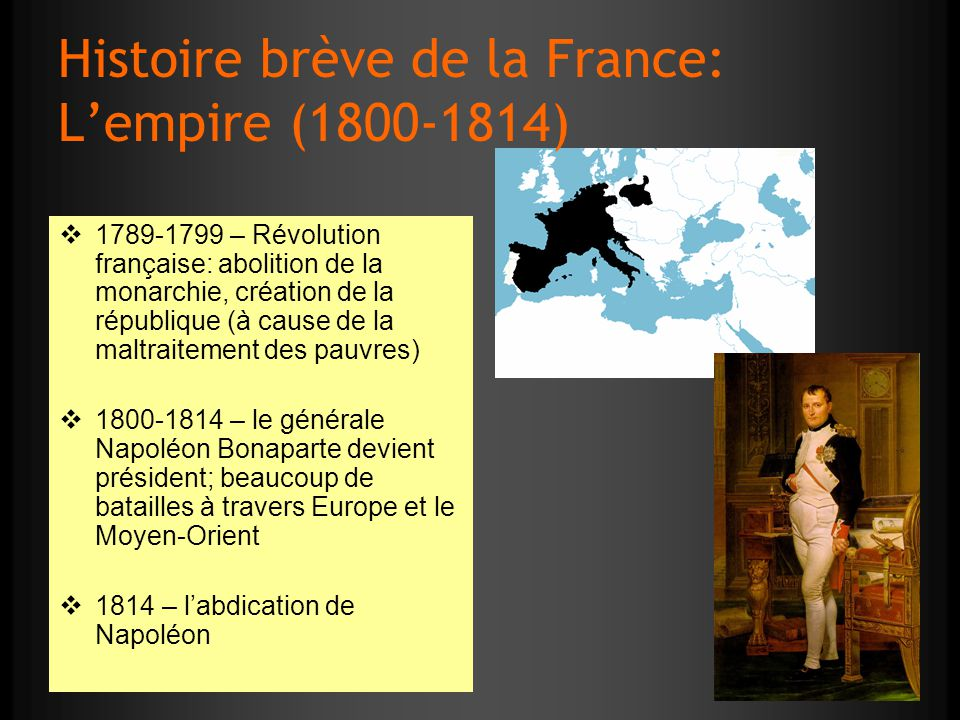 Histoire brève de la France: L'empire (1800-1814)