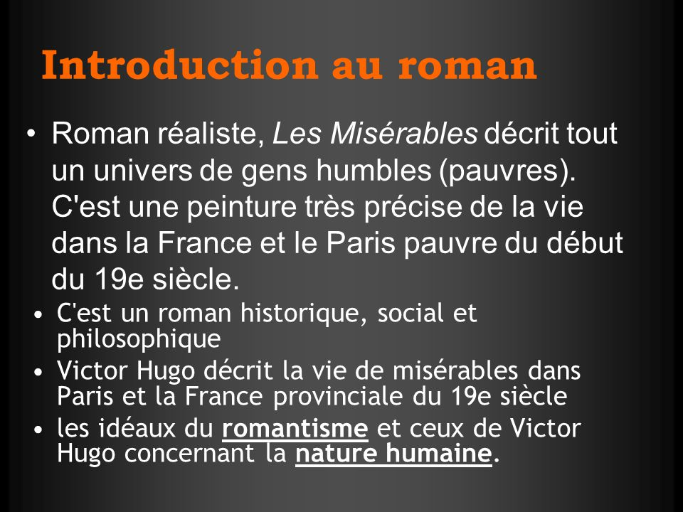 Introduction au roman