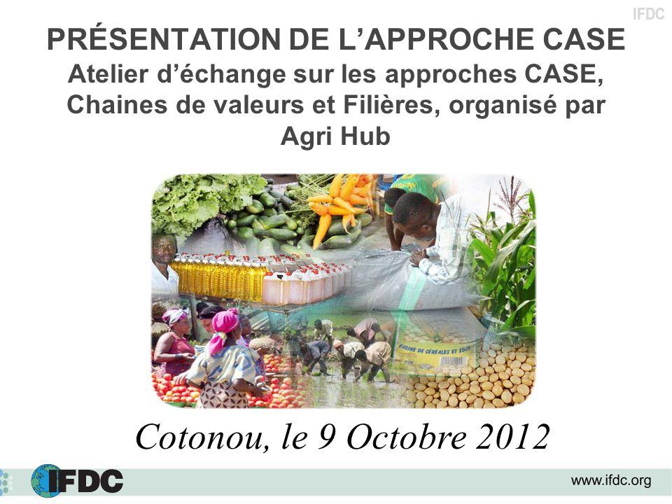 PRÉSENTATION DE L'APPROCHE CASE Atelier d'échange sur les approches CASE, Chaines de valeurs et Filières, organisé par Agri Hub
