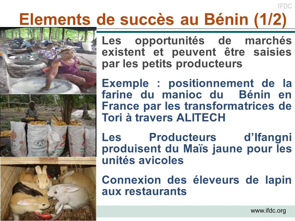 Elements de succès au Bénin (1/2)
