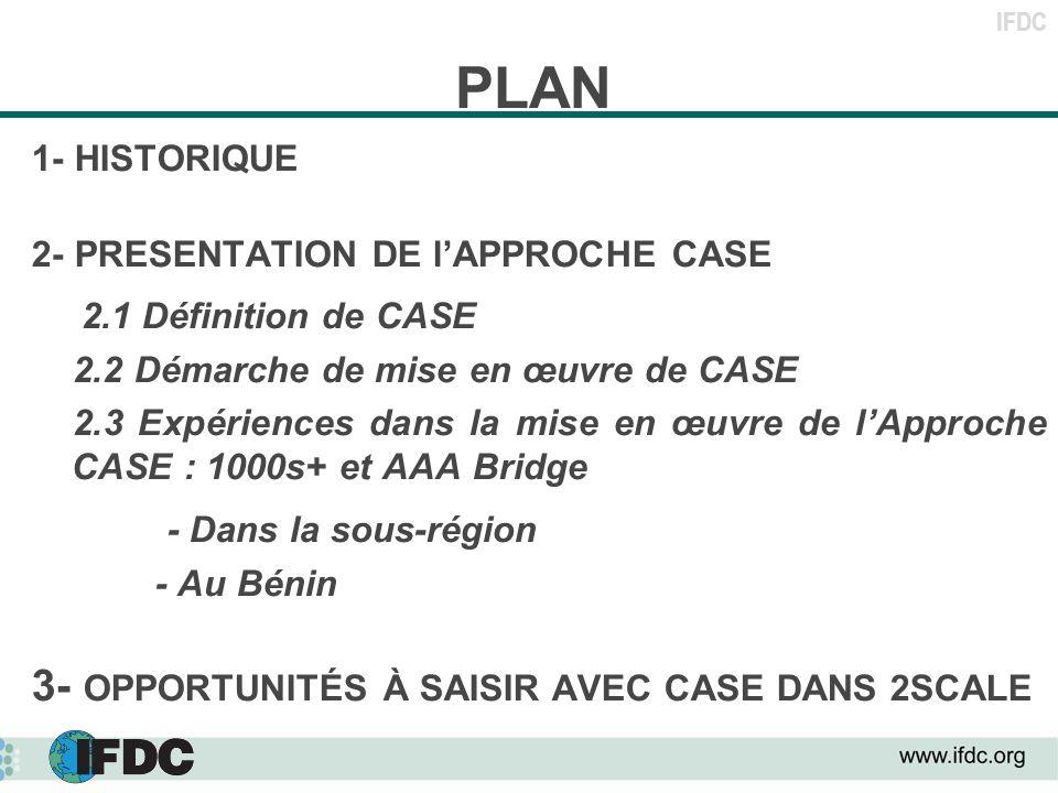 PLAN 2.1 Définition de CASE - Dans la sous-région