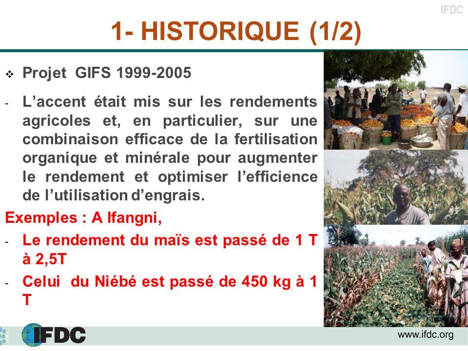 1- HISTORIQUE (1/2) Projet GIFS 1999-2005