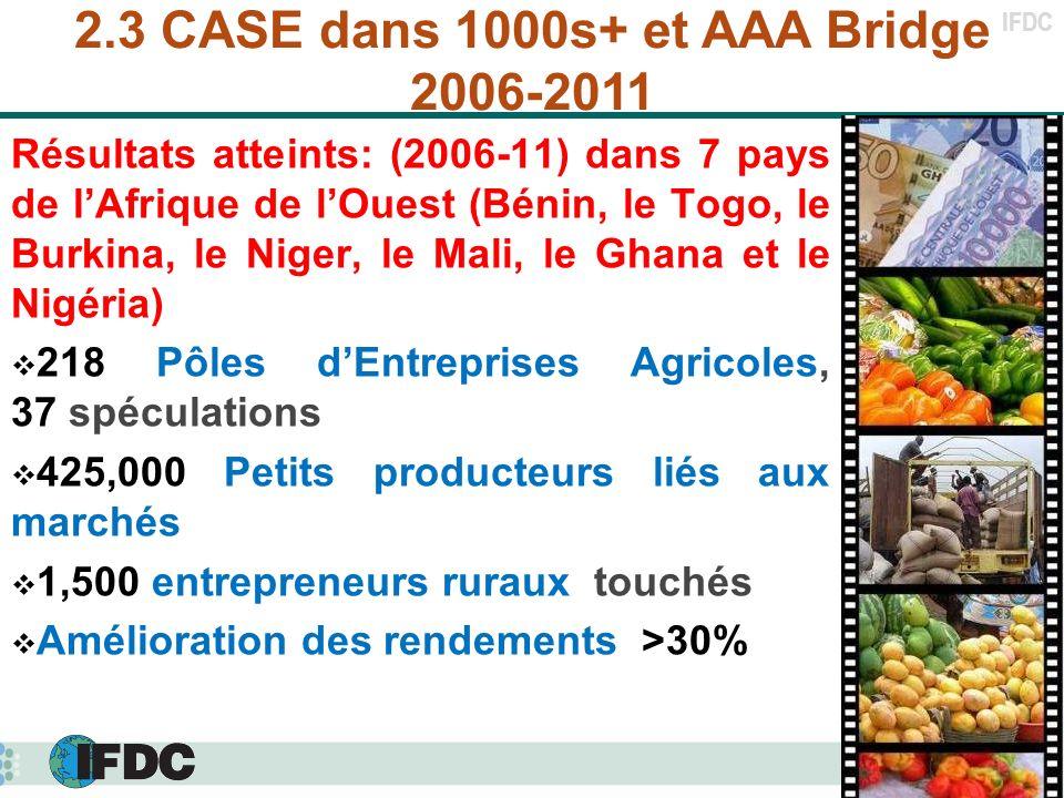 2.3 CASE dans 1000s+ et AAA Bridge 2006-2011