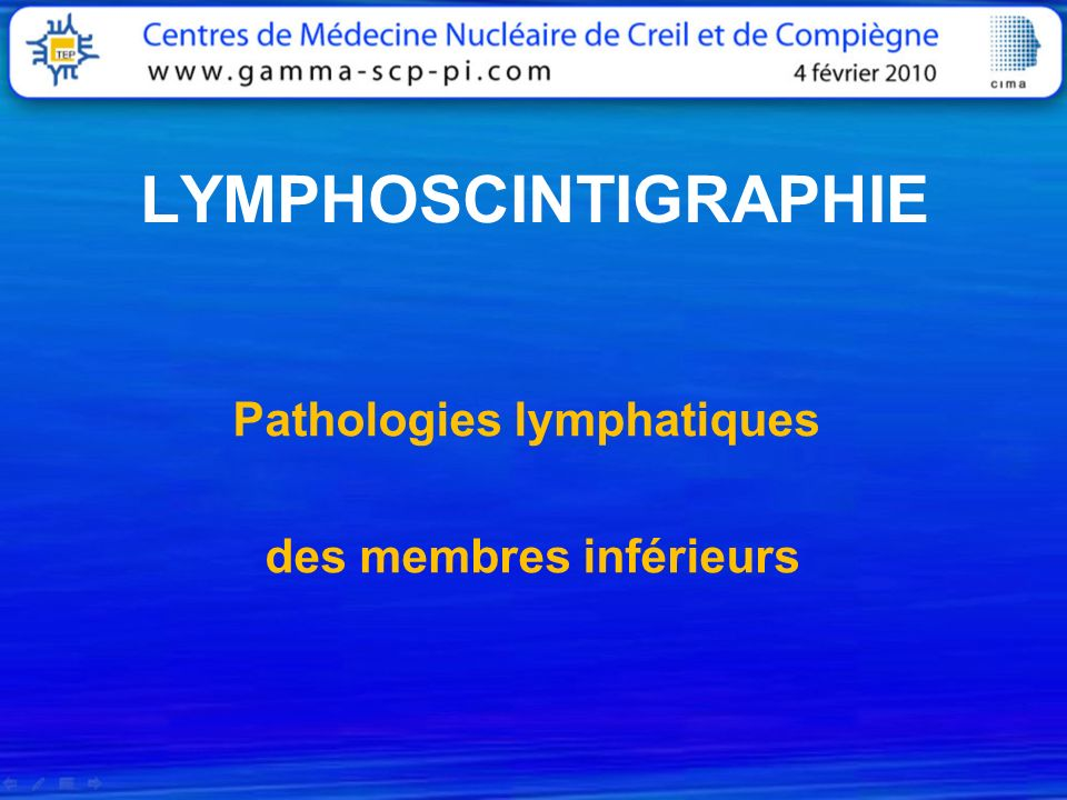 Pathologies lymphatiques