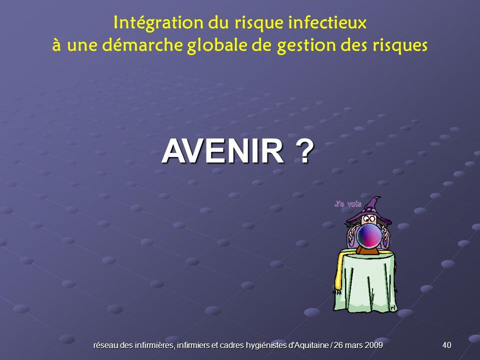 AVENIR Intégration du risque infectieux